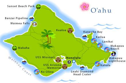 ö karta Hawaii, 60 år efter Pearl Harbor ö karta